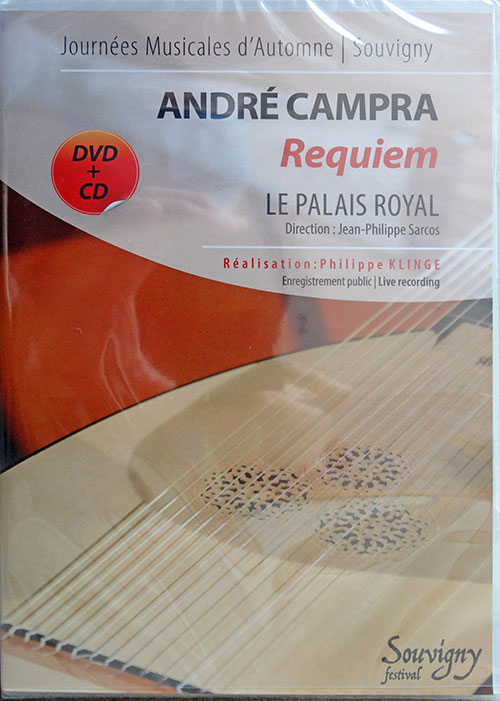 Pack dvd+cd Le Palais Royal, André Campra, Requiem